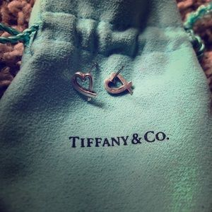 Tiffany & Co Picasso loving heart earrings